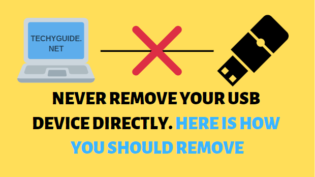 how you should remove your USB Devices