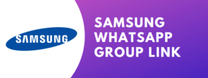 samsung whatsapp group link
