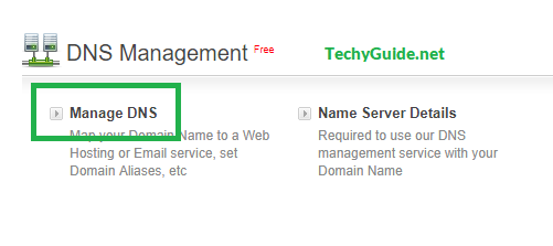 bigrock domain DNS management