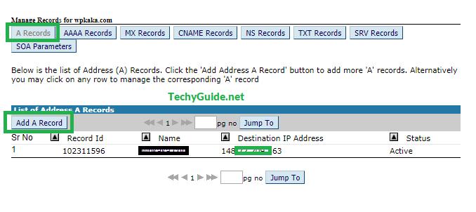 Big Rock domain A record