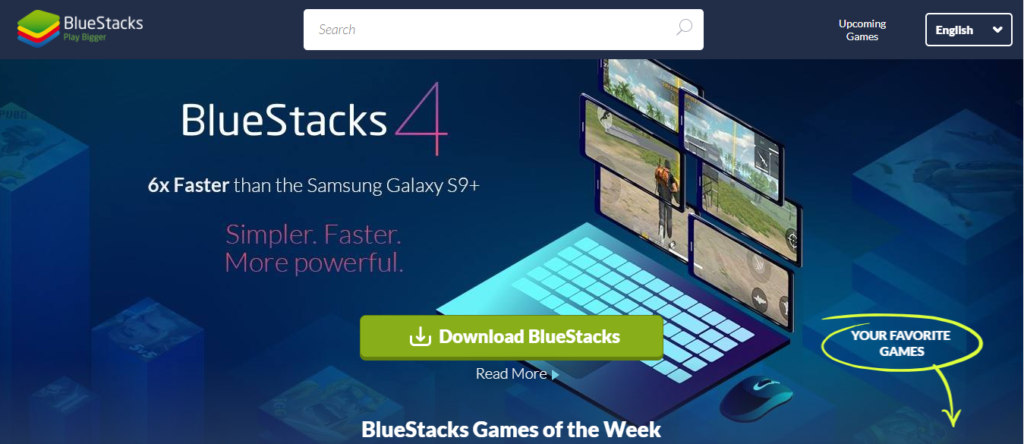 Bluestacks to install Kinemaster App