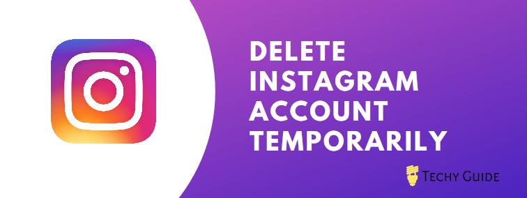 deactivate your Instagram account