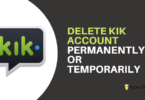 delete kik account