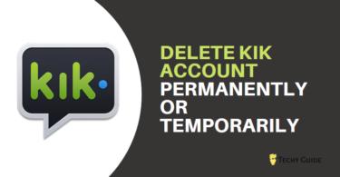 delete kik account