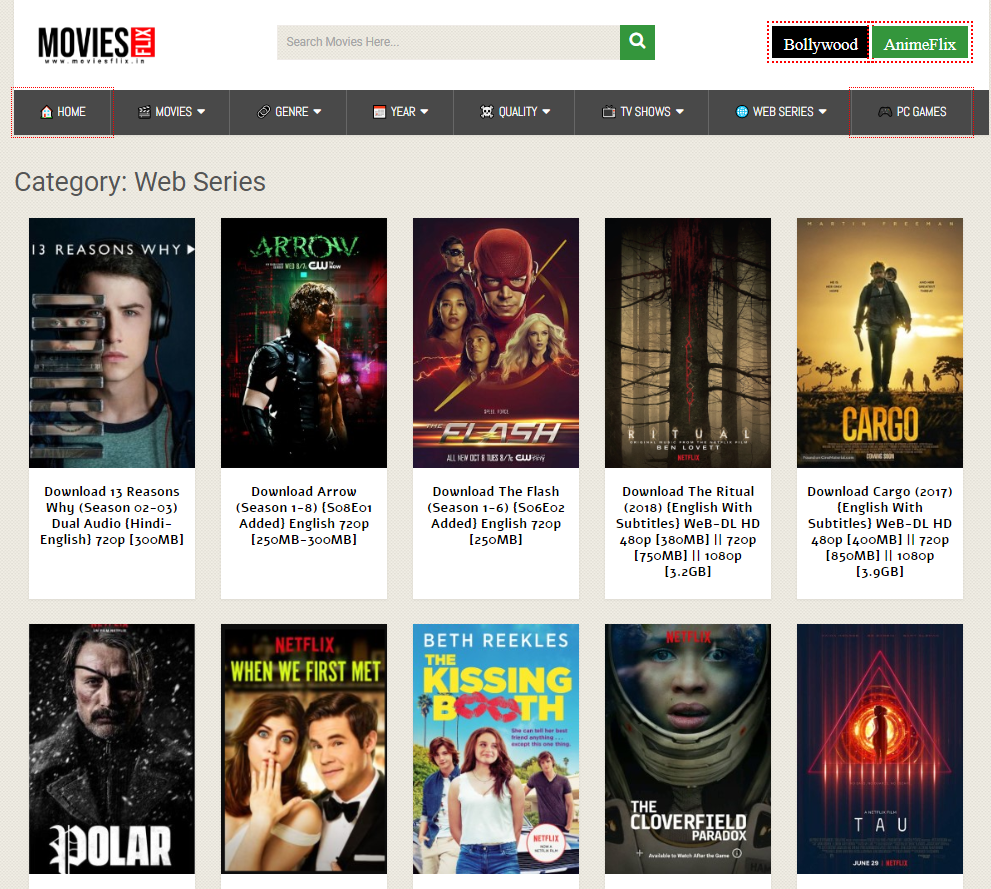 Movies flix download website