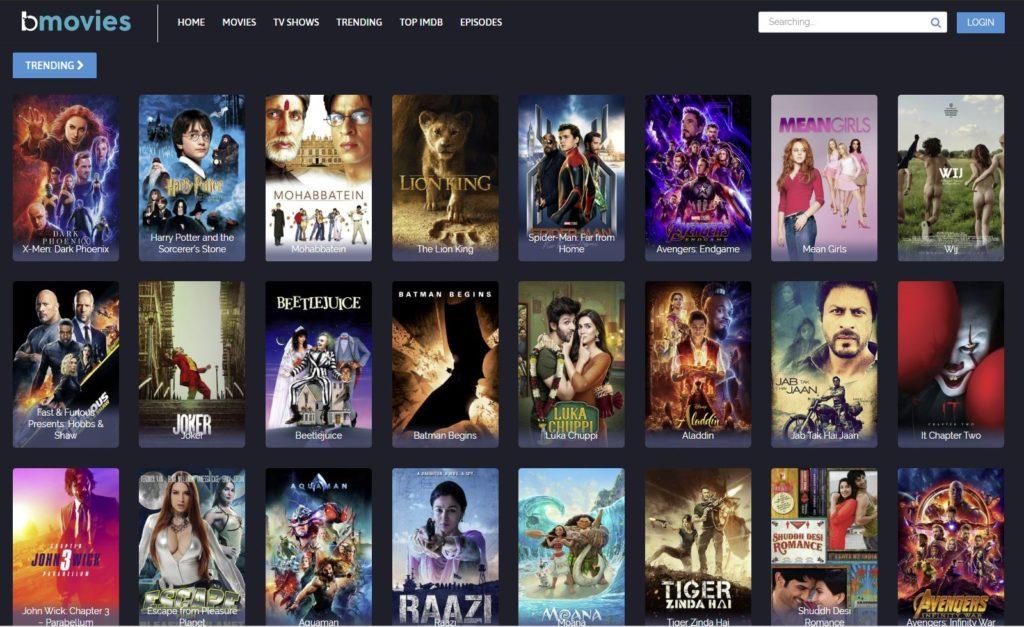 bmovies home page