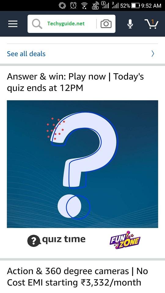 Amazon Quiz time
