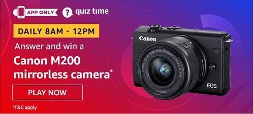 Amazon Canon M200 Camera Quiz answers