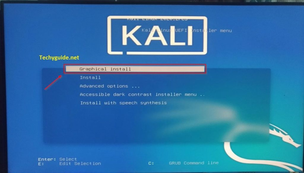 dual booting kali linux with windows 10 in graphical mode