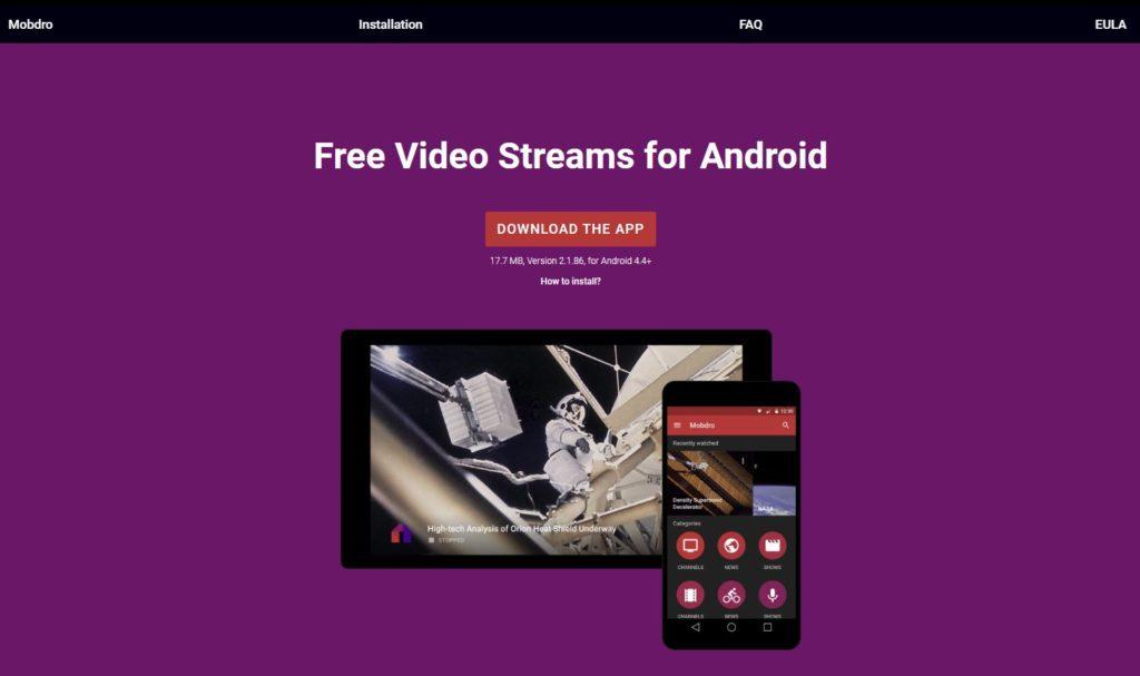 Mobdro - free sports streaming app