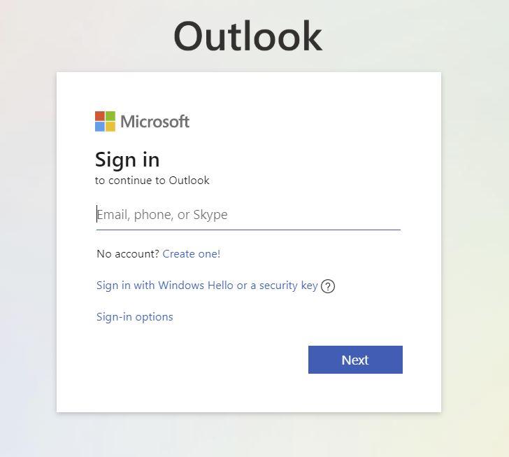 outlook web login