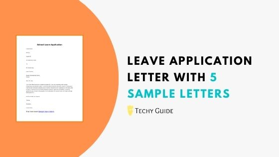 Leave application letter with 5 sample letters